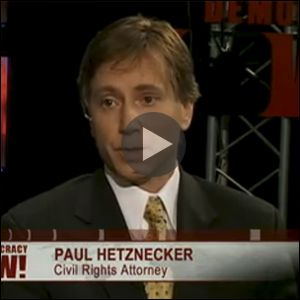 Paul Hetznecker Democracy Now Interview